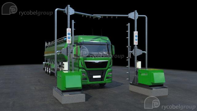 TBOS afblaasinstallatie - Aflblazen van voertuigen - Afblazen van bulkwagens