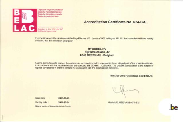 Belac Certificaat